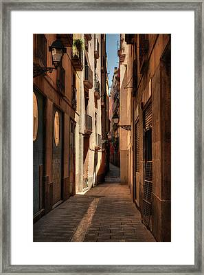 Framed Print featuring the photograph Barcelona - Gothic Quarter 004 by Lance Vaughn