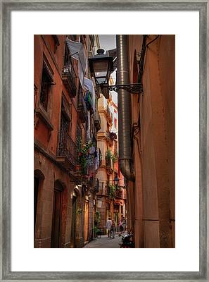 Framed Print featuring the photograph Barcelona - Gothic Quarter 002 by Lance Vaughn