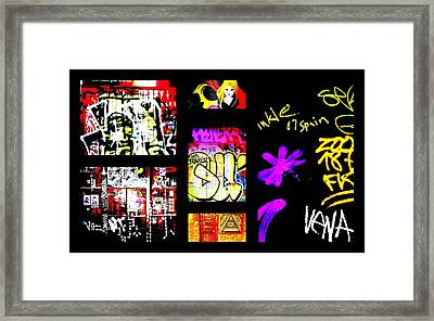 Barcelona Graffiti  Framed Print by Funkpix Photo Hunter