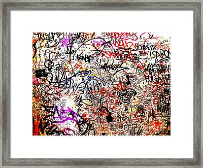 Barcelona Graffiti Heaven Framed Print by Funkpix Photo Hunter