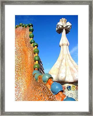 Barcelona Impression 1 Framed Print by Ana Maria Edulescu