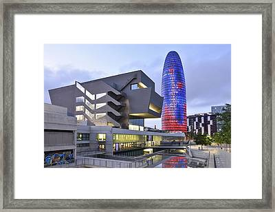 Barcelona Modern Architecture Framed Print by Marek Stepan