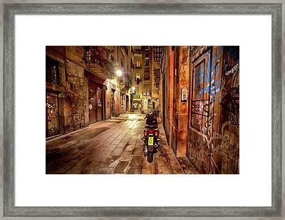 Barcelona Nights Framed Print by Janet Meehan