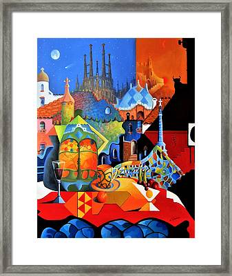 Barcelona Nights Framed Print