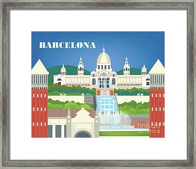 Barcelona Spain Horizontal Scene Framed Print