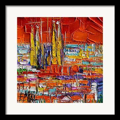 Parc Guell Framed Prints