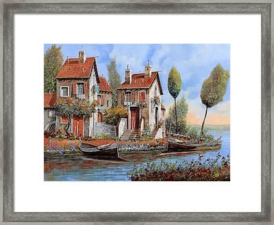 Barche A Riva Framed Print