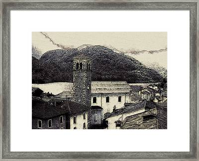 Barcis Italy In Ink Framed Print