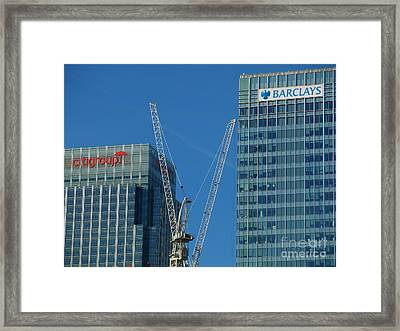 Barclays And Citigroup Framed Print