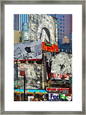 Bardot At Times Square Framed Print by Gwyn Newcombe