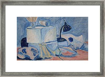 Framed Print featuring the pastel Bare Bones by Jean Haynes