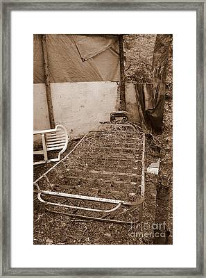 Framed Print featuring the photograph Bare Bones Miners Camp by Marie Neder