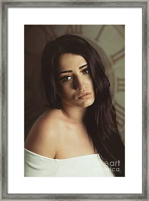 Bare Shoulder Woman Framed Print