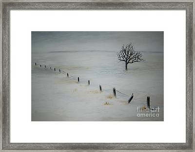 Bare Tree Framed Print by Vivian  Mosley