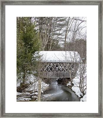 Bare-walker Covered Bridge  Framed Print