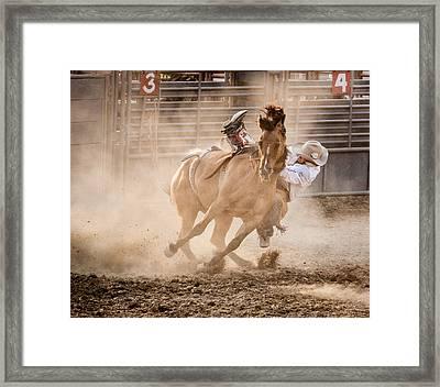 Bareback Bronc Framed Print by Jay Heiser