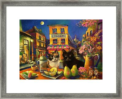 Barefoot In Paris Framed Print by Paul Birchak