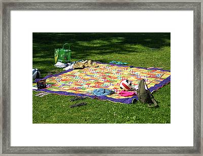 Barefoot In The Grass Framed Print