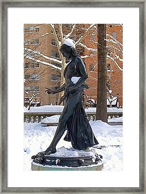 Barefoot In The Park Framed Print by Rona Black