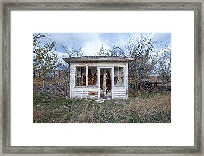 Framed Print featuring the photograph Barely Standing by Fran Riley