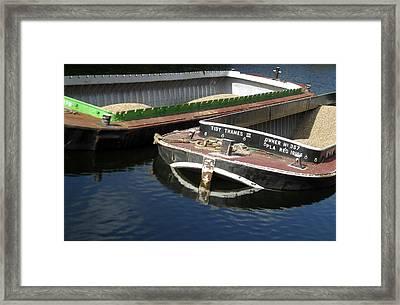 Barge Love Framed Print by Jez C Self
