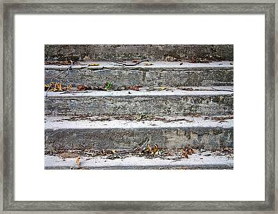 Framed Print featuring the photograph Barge Town Grocery Steps by KayeCee Spain