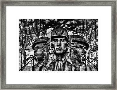 Bargoed Miners Sculpture Framed Print