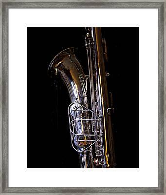 Bari Sax Framed Print