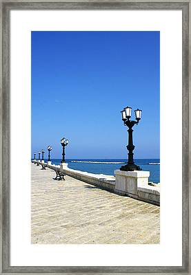 Bari Waterfront Framed Print
