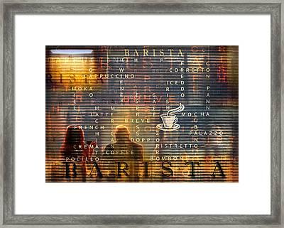 Barista Framed Print by Mal Bray