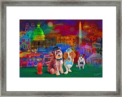 Bark Ball Framed Print by Karen Derrico