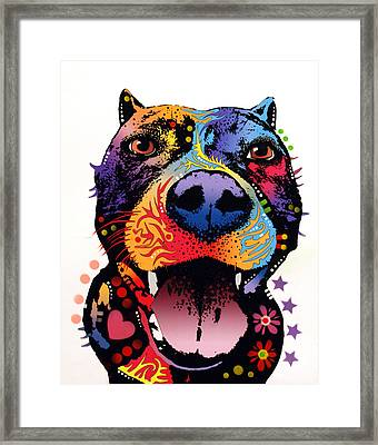 Bark Don't Bite Framed Print by Dean Russo