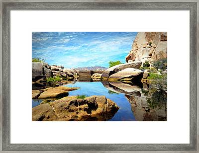 Framed Print featuring the photograph Barker Dam - Joshua Tree National Park by Glenn McCarthy Art and Photography
