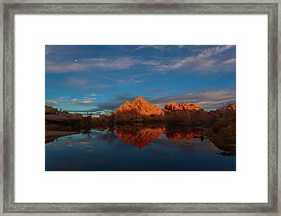 Barker Dam Sunrise Framed Print