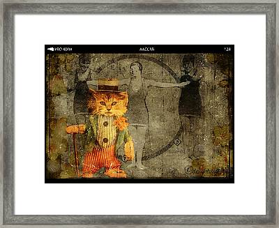 Framed Print featuring the digital art Barker by Delight Worthyn