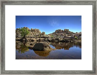 Barker's Dam Reservoir Framed Print by Peter Tellone