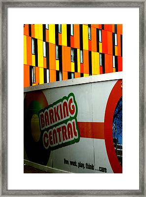 Barking Central Framed Print by Jez C Self