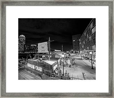 Barking Crab Boston Ma Black And White Framed Print by Toby McGuire