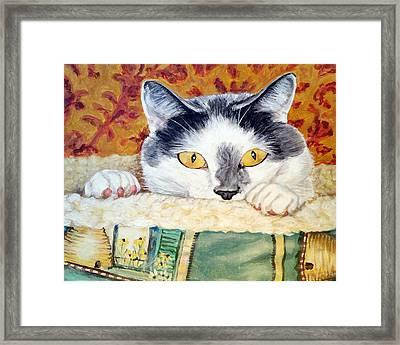 Barley Cat Framed Print