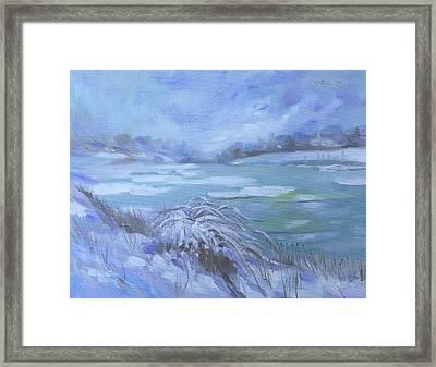 Barlow Pond Snowscapr Framed Print