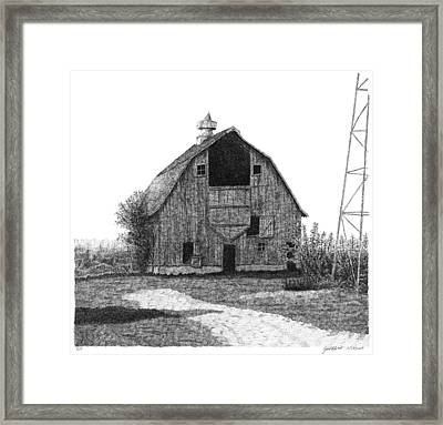 Barn 10 Framed Print by Joel Lueck
