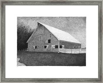 Barn 11 Framed Print by Joel Lueck