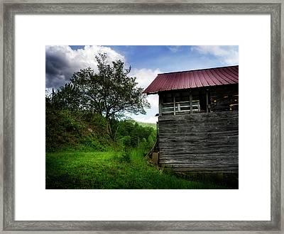 Barn After Rain Framed Print by Greg Mimbs