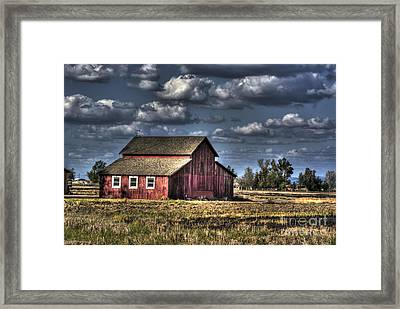 Framed Print featuring the photograph Barn After Storm by Jim and Emily Bush