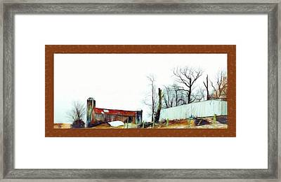 Barn And Buildings In Frederick Maryland Digital Painting Framed Print by Debra Lynch