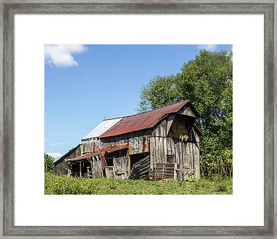 Barn And Hayloft. Framed Print by William Morris