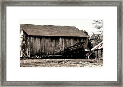 Barn And Truck Framed Print