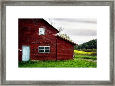 Barn And Wildflowers Framed Print by Greg Mimbs