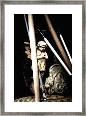 Barn Angel Framed Print by Deb Cohen
