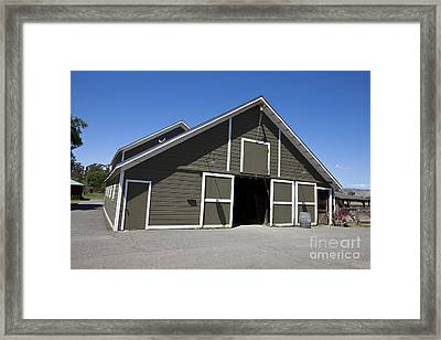 Barn At Ardenwood Historic Farm Framed Print